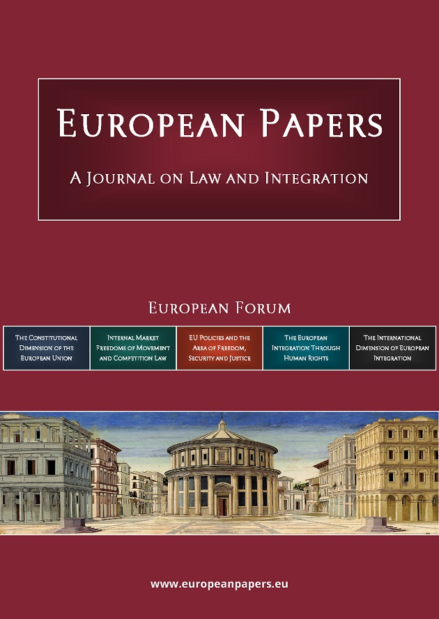 European Papers - A Journal on Law and Integration